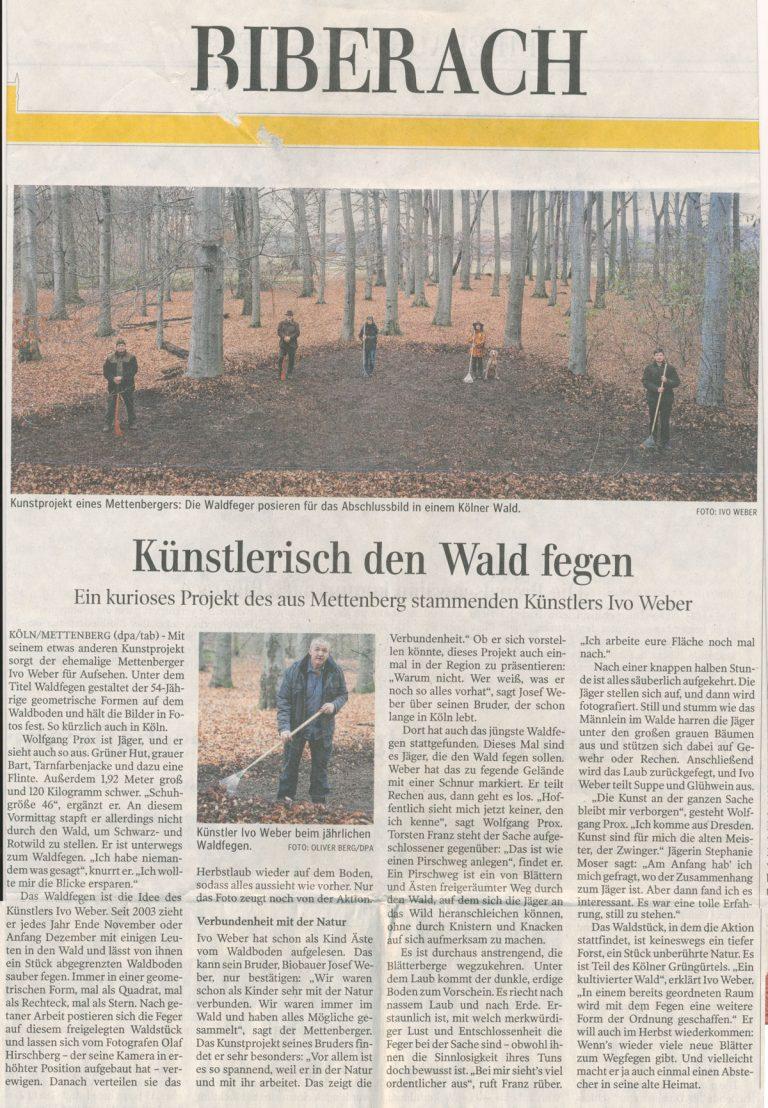 Ivo Weber Waldfegen Biberach Presse