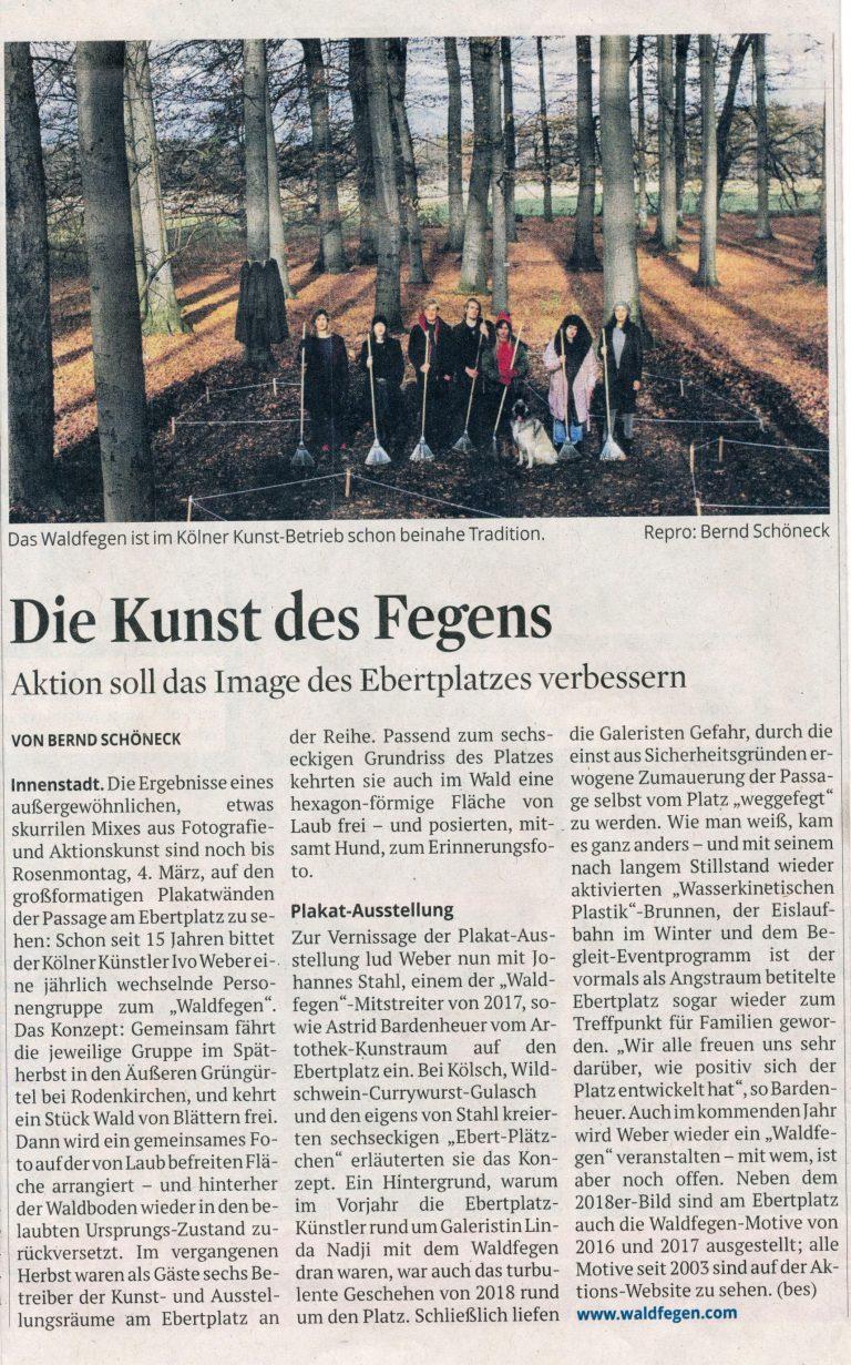 Ivo Weber Waldfegen Kölner Stadtanzeiger Presse